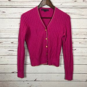 Brooks Brothers Sweaters - Brooks Brothers Pink Cable Knit Cardigan - U1